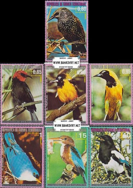 Známky Rovníková Guinea 1976 Vtáci
