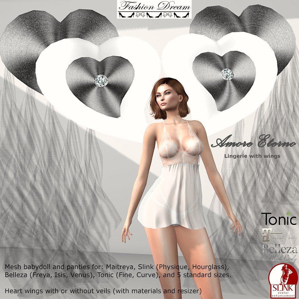 Amore Collection Lingerie with wings – Fashion Dream