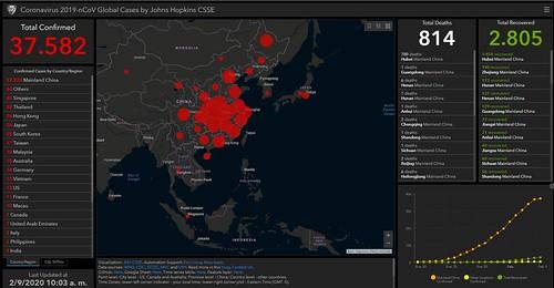 Mapa en tiempo real del CoroVirus