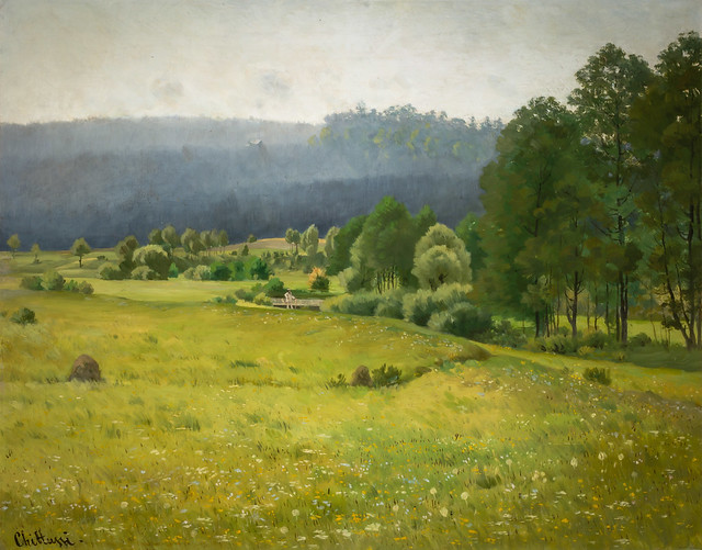 Antonin Chittussi - The Chrudimka Valley, 1887 at National Gallery Prague Czechia