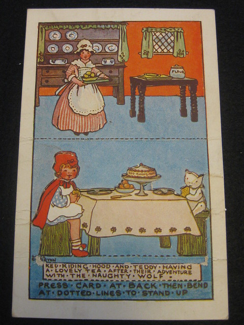 Little Red Riding Hood - a Press-Out Postcard by Linda Edgerton