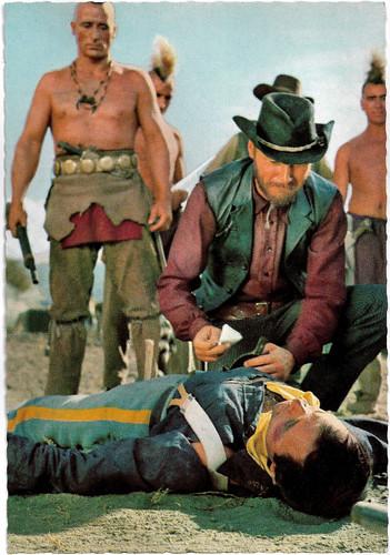 Stelio Candelli and Ricardo Rodríguez in Der Letzte Mohikaner (1965)