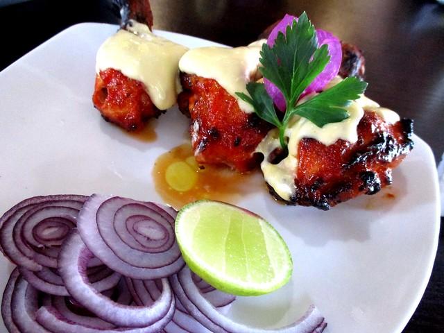 Cafe Ind cheesy tandoori chicken drumsticks