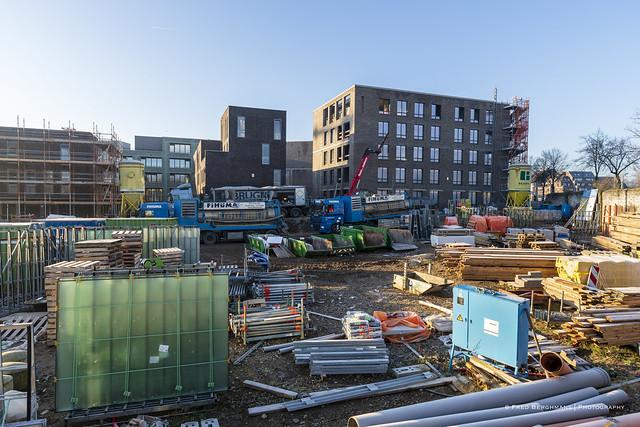 Nieuwbouw in het Sphinxkwartier - foto Fred Berghmans