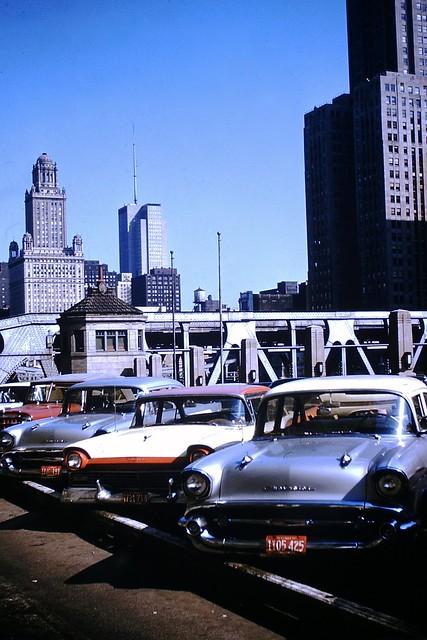 Found Photo - Wells Street Bridge, Chicago