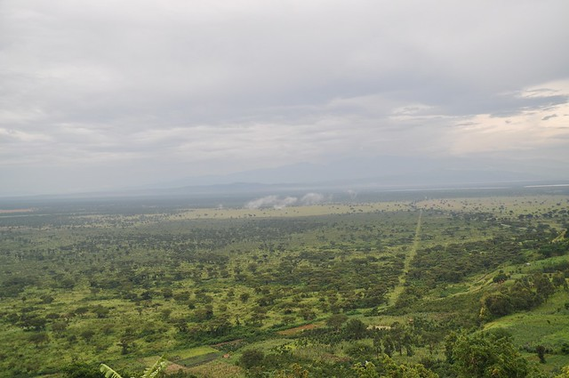 The sprawling savannah on the border of Queen Elizabeth in Kasese