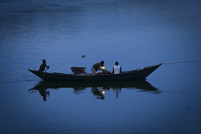 The canoes are still visible at the source of the Nile