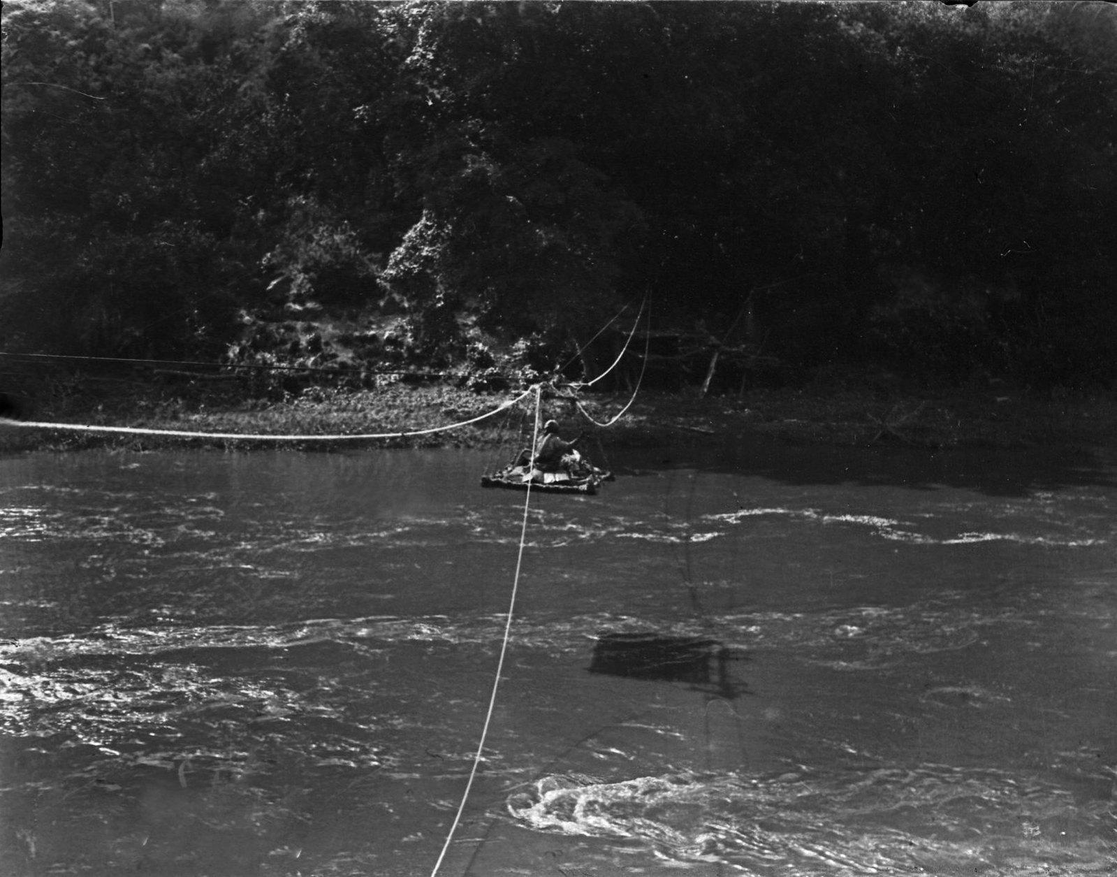 215. Мост (платформа) в движении над рекой Уаби