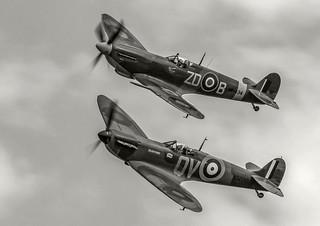 Spitfires Mk 1 and Mk IX,  B-W