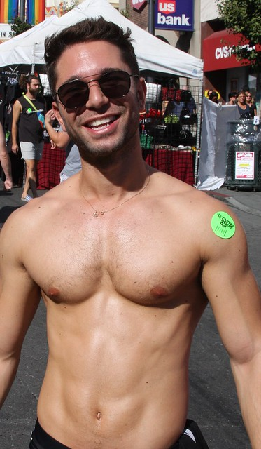 WHOA ! DAMN HOT MUSCLE STUD ! ! ~ CASTRO STREET FAIR 2019 ! ( safe photo )