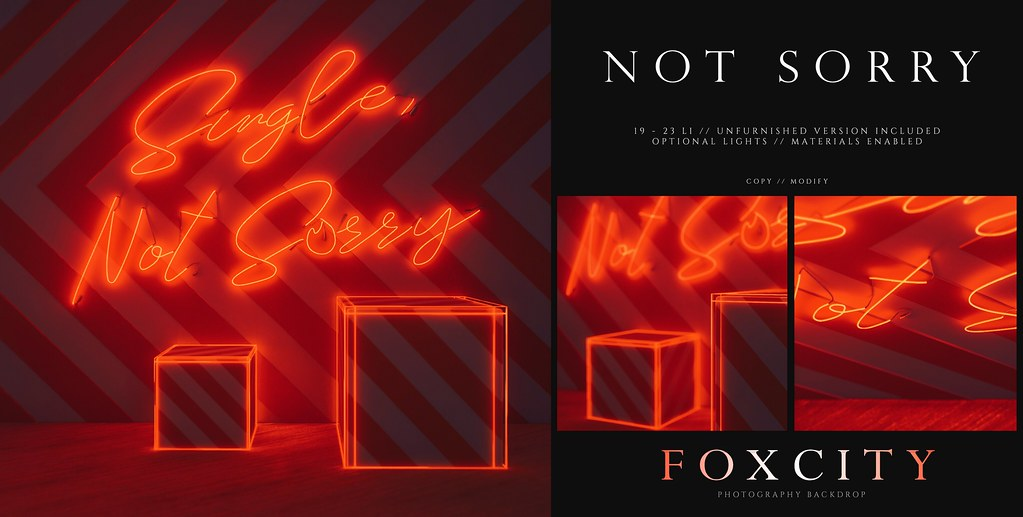 FOXCITY. Photo Booth – Not Sorry