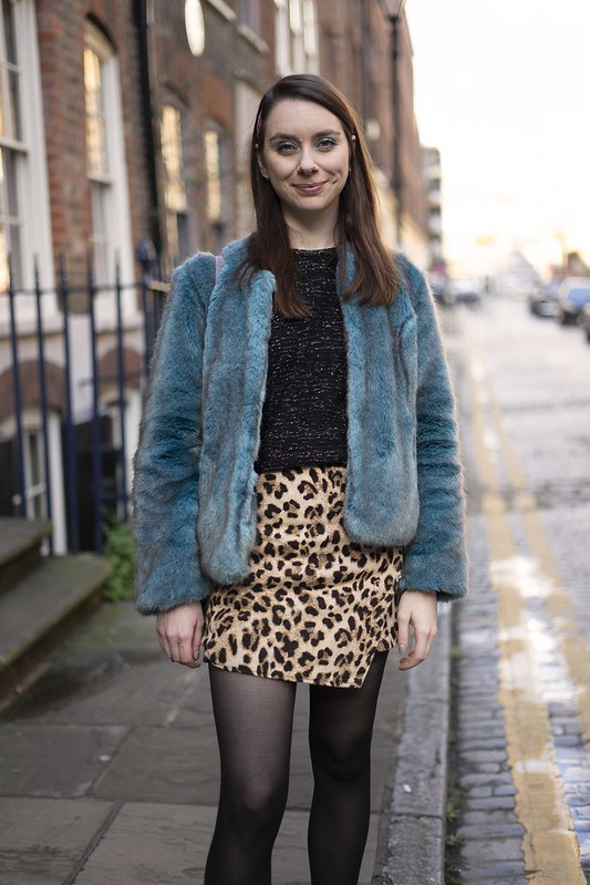 Blue fur and a leopard skirt 3