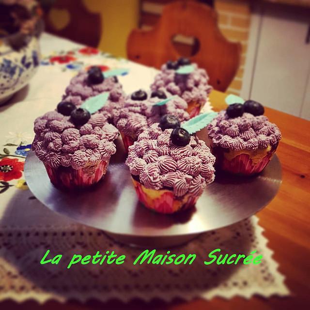 Foto cupcake allo yogurt e mirtilli