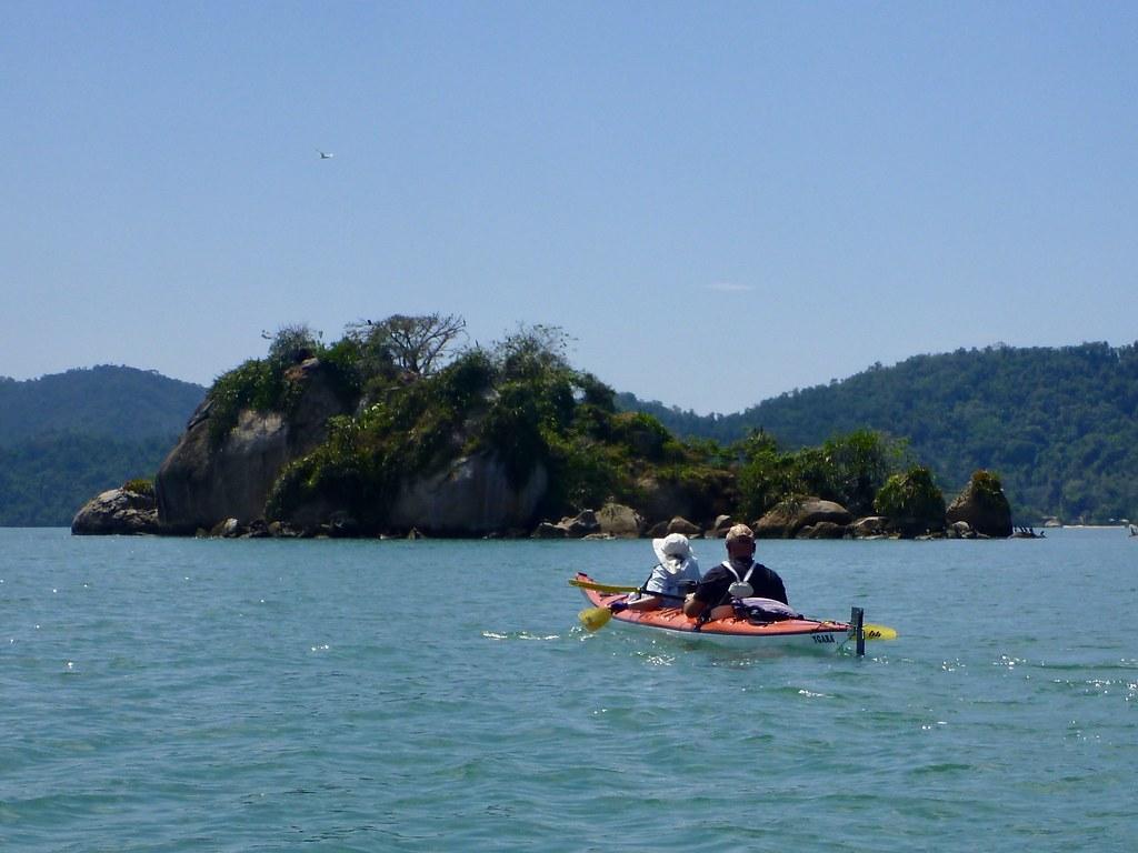 Kayaking in Carioca Bay near Paraty
