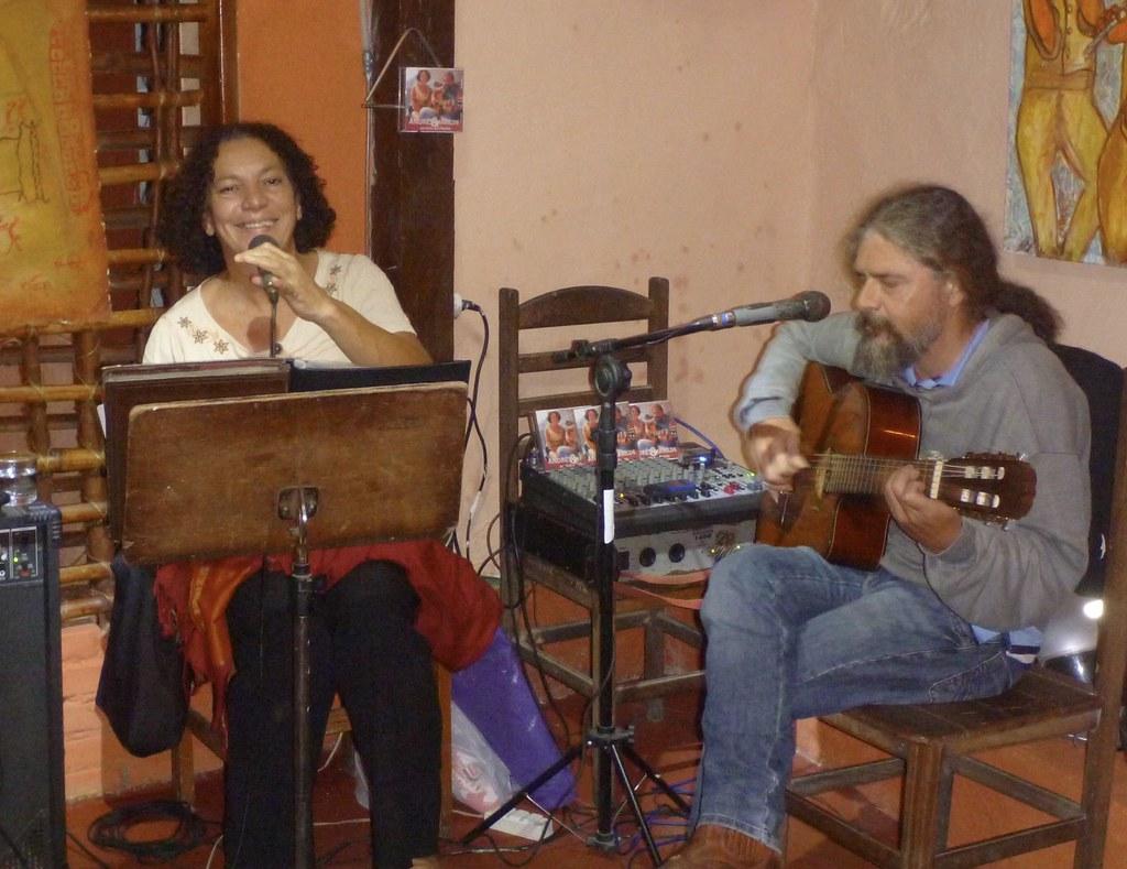 Dinner music in Paraty, Brazil