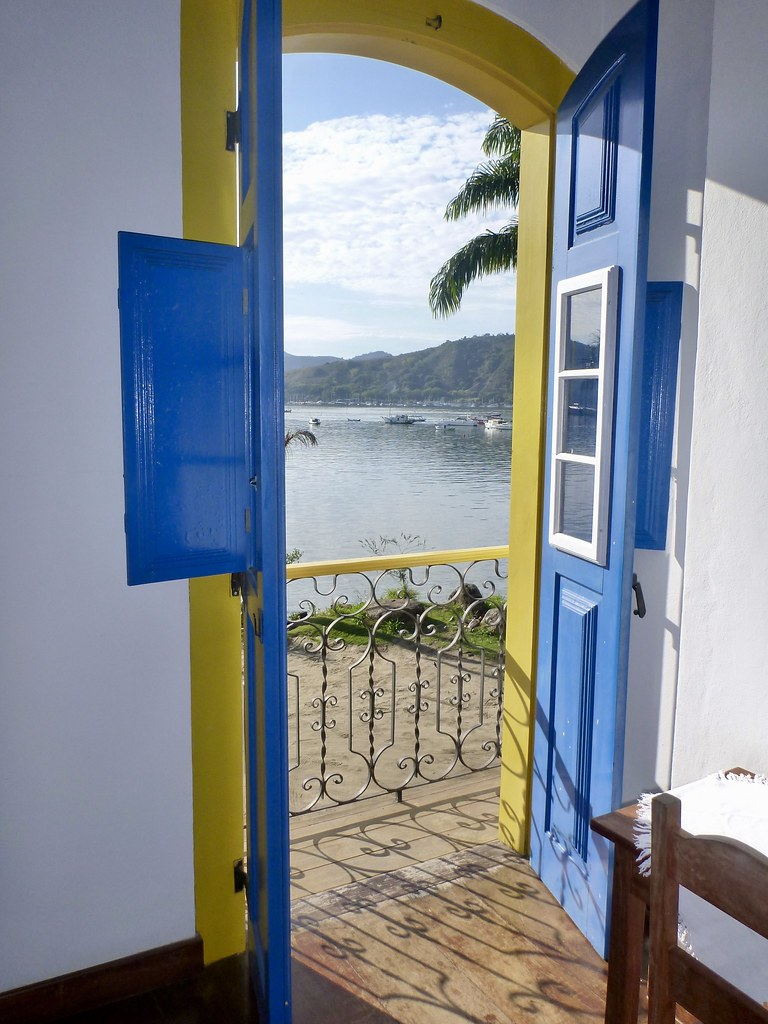 View out our door of Paraty Harbour