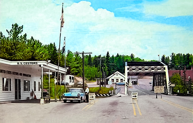 Postcard: Old Border Crossing