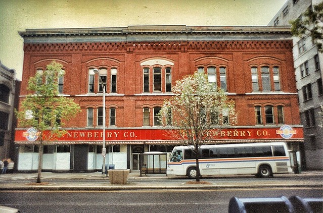 Pittsfield  Massachusetts  - Central Block -1881 NY - J.J. Newberry Company  -  Famous Five and Dime Store - Closed