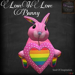 HEXtraordinary - Love Is Love Bunny - Seed of Inspiration @Gacha Garden