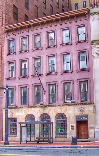 Hartford Connecticut - Six Control Row Building  -  Historical - 1850 l