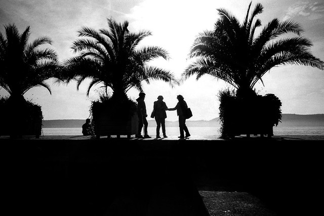 The meeting (Ricoh GR1)