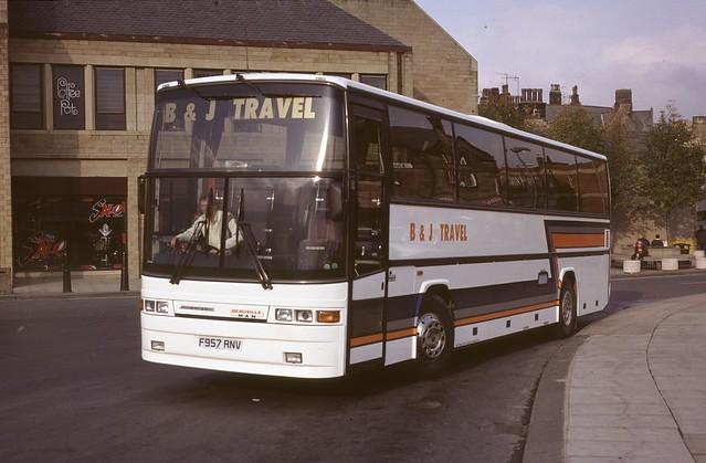 F957 RNV: B & J Travel, Barnoldswick