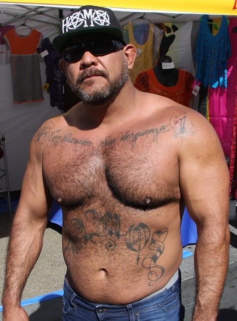 DAMN HOT & HAIRY MUSCLE BEARMAN ! ~ CASTRO STREET FAIR 2019 ! ( safe photo )