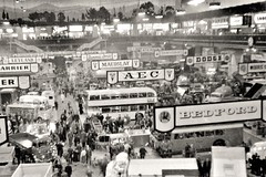 Lost-Albion posted a photo:	The negative is battered and non too sharp, but worth an outing; this was the Commercial Motor Show at Earls Court in 1958. Fancy a wander around?Scanned from a 35mm size negative in my collection