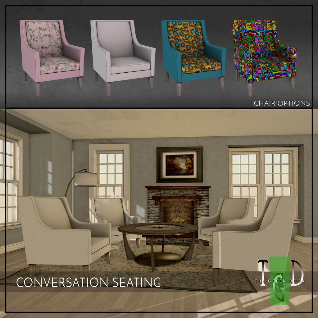 L$50 TODAY ONLY – CONVERSATION SEATING