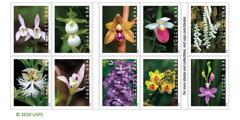 USPS Wild Orchid stamps