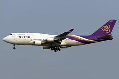 aircraft airliner aeroplane january 2020 bangkok thailand vtbs bkk suvarnabhumi airport tg tha thaiairwaysinternational thai airways international boeing747 boeing 747 744 4d7 hstgx
