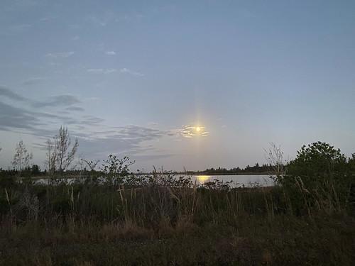 Snow Moon at sunrise minus 23 minutes 20200209