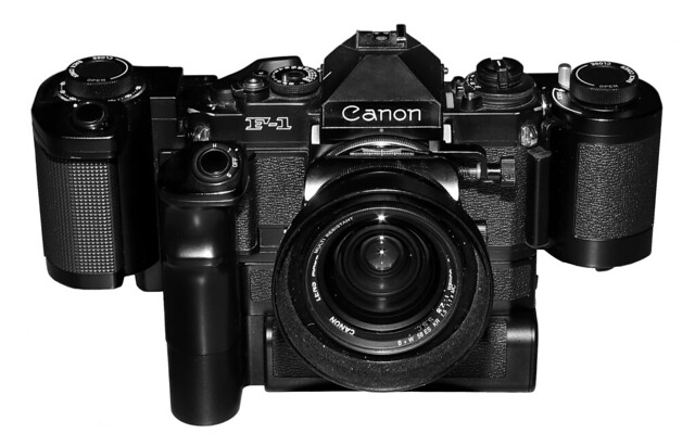 Canon F-1New - the big setup