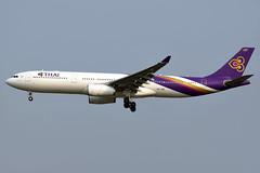 aircraft airliner aeroplane january 2020 bangkok thailand vtbs bkk suvarnabhumi airport tg tha thaiairwaysinternational thai airways international airbusa330 a330 333 343 hstbe