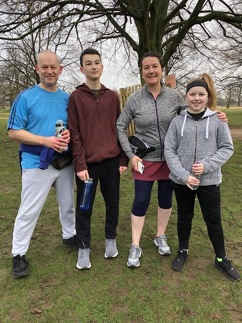 Richard, Cameron, Louise and Georgia, all first timers, inspired by Richard's new year resolution (he says)