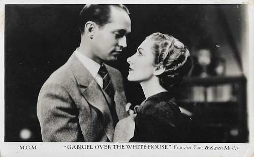 Franchot Tone and Karen Morley in Gabriel over the White House (1933)
