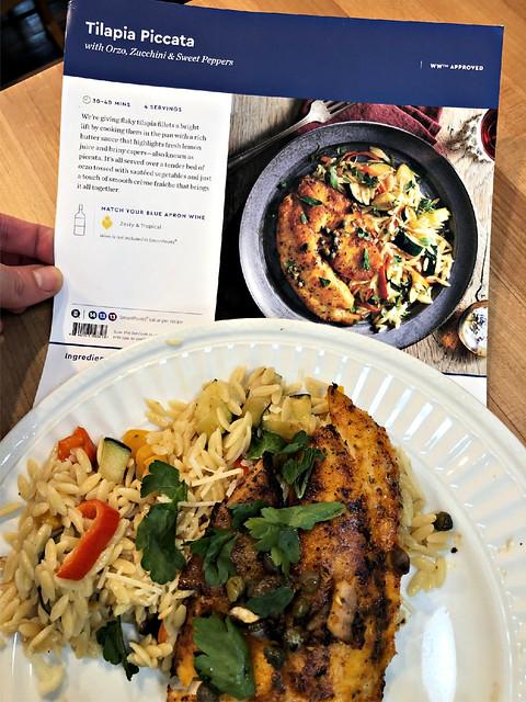 simple tilapia recipe from Blue apron