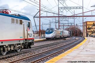 Amtrak 629 on 86, 2012 on 2151, Wilmington, 2020-02-07