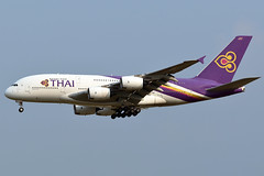 aircraft airliner aeroplane january 2020 bangkok thailand vtbs bkk suvarnabhumi airport tg tha thaiairwaysinternational thai airways international airbusa380 airbus a380 388 841 hstuf