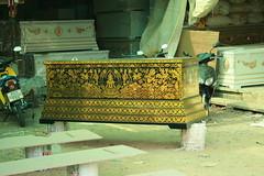gilt thai coffin factory bangkhen bangkok thailand canon korat massacre death dying
