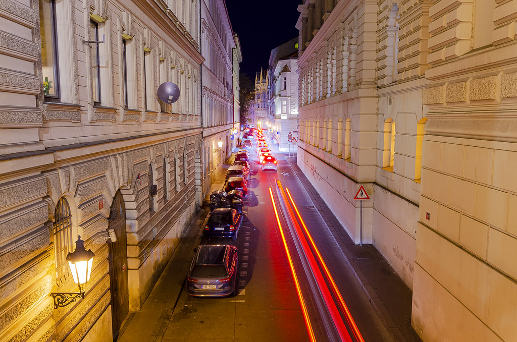 Night Traffic in Prague