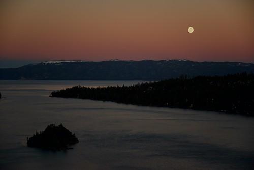 Emerald Bay Sunset Moonrise