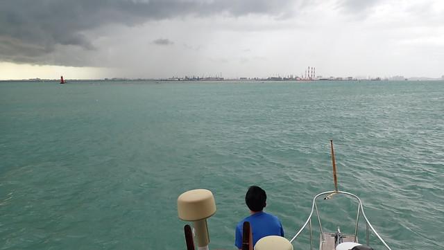 Wet weather over Cyrene Reef