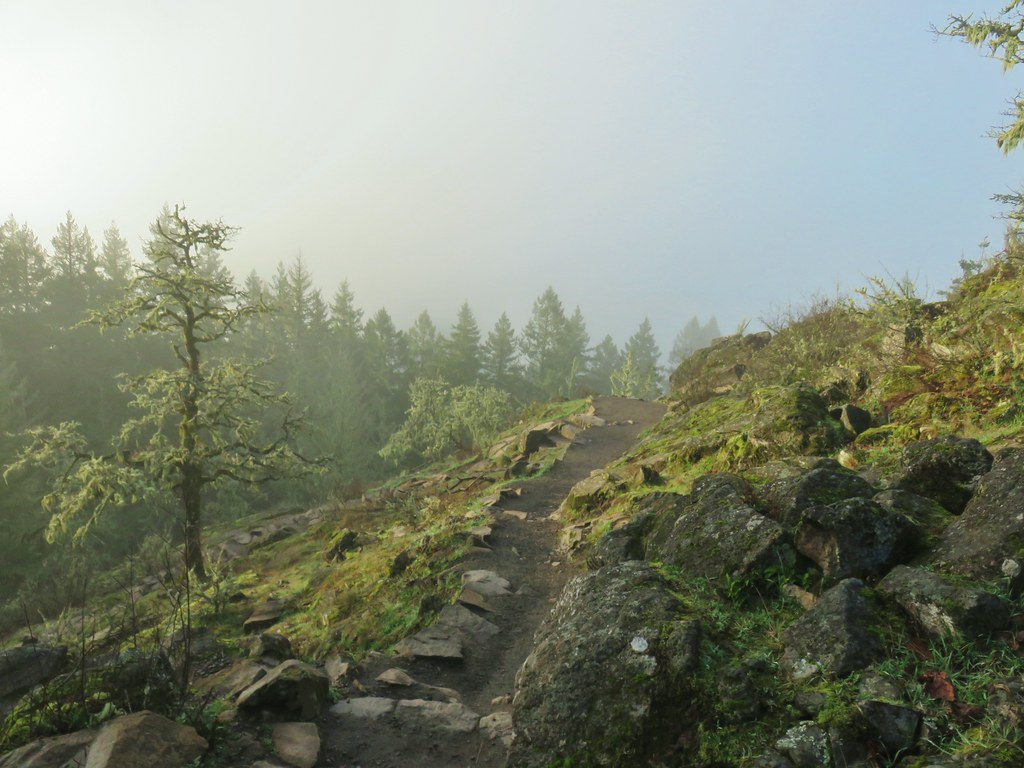 Descending Spencer Butte