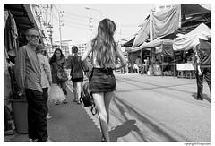 blackandwhite bw monochrome traditionalstreet thailand streetphotography people woman female girl thai miniskirt sexy dress asian asia