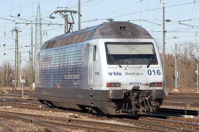 BLS Re 465 016 Basel Badischer Bahnhof