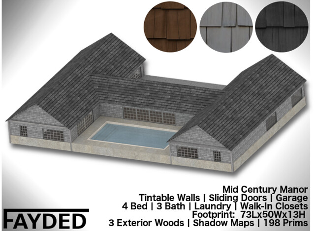 FAYDED - Mid Century Manor