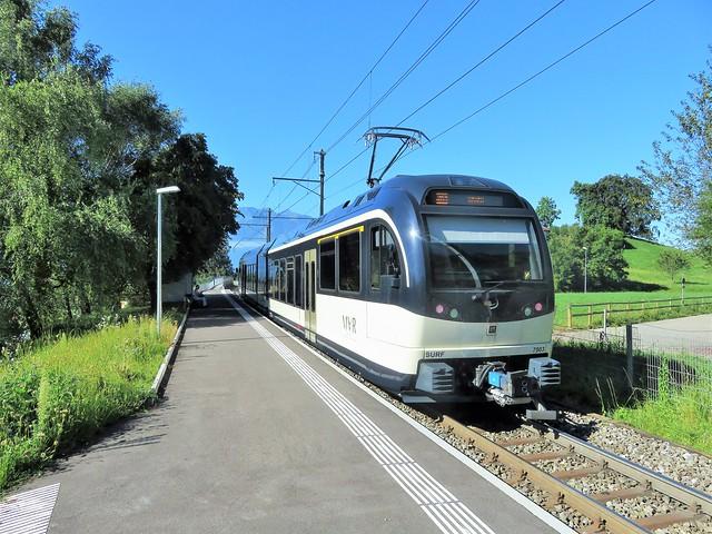 Trains Vevey-Blonay-Les Pléiades (Suisse)