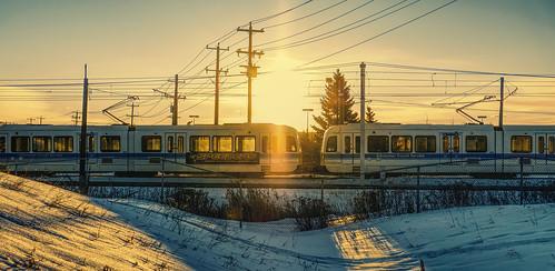 edmonton fujifilm xh1 fujinon sunshine morning train transit transportation alberta canada kanada ets service