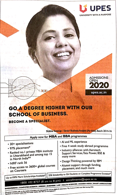 MBA and BBA Admission 2020